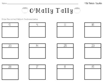 St. Patrick's Day Tallying Worksheet