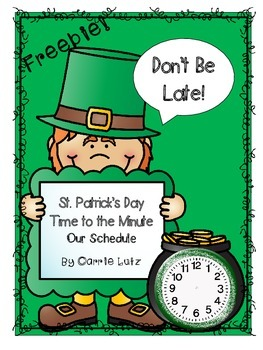 St. Patrick's Day Telling Time {Time to the Minute}