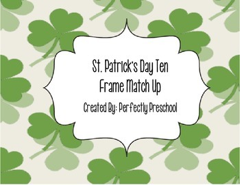 St Patrick's Day Ten Frame Match Up