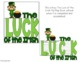 St. Patrick's Day - The Luck of the Irish Flip Flap Book™