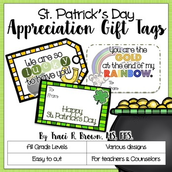 St. Patrick's Day Themed Appreciation Gift Tags