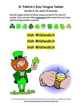 Irish Wristwatch - St. Patrick's Day Tongue Twister