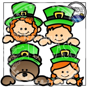 St. Patrick's Day Toppers Clipart Bundle