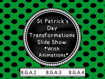 St Patrick's Day Transformations in the Coordinate Plane (