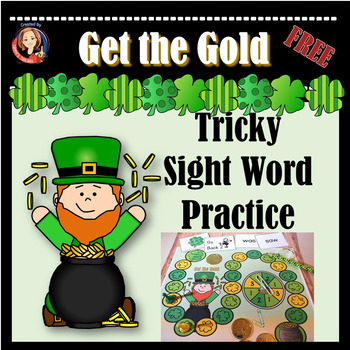 St. Patricks Day Tricky Sight Word Practice Game for Word