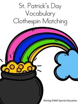 St. Patrick's Day Vocabulary Clothespin Task