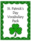St. Patrick's Day Vocabulary Pack