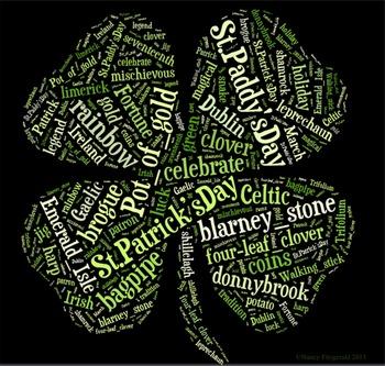 St. Patrick's Day Vocabulary image for Classroom Decoratio