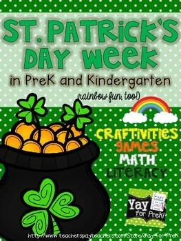 St. Patrick's Day Week in PreK and Kindergarten (rainbow f