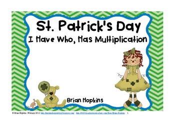 St. Patrick's Day I Have, Who Has Multiplication FREEBIE