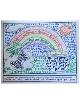 St. Patrick's Day Word Art