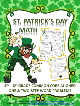St. Patrick's Day Word Problems: 4th - 6th Grade Common Co