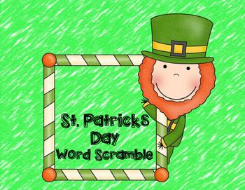 St. Patricks Day Word Scramble