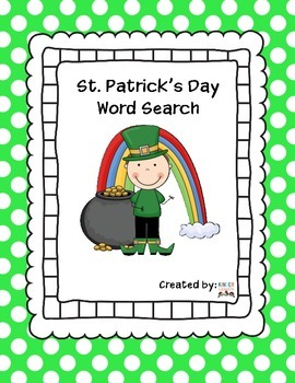 St. Patrick's Day Word Search Free