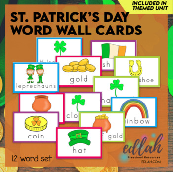 St. Patrick's Day Word Wall Cards (set of 8)