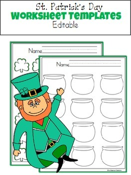 St. Patrick's Day Worksheets Templates
