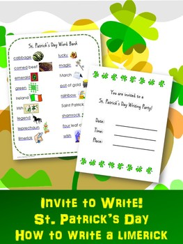 """St. Patrick's Day Writing Activity:  """"Invite to Write"""" a L"""