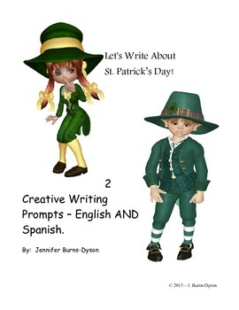 St. Patrick's Day Writing Prompt Journaling Page - English