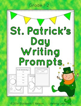 St. Patrick's Day Writing Prompts: Grades 1-2
