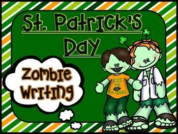 St. Patrick's Day ZOMBIE Writing