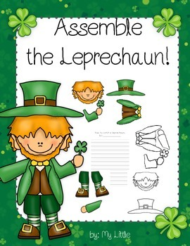 St. Patrick's Day craft/project and writing sheets (assemb