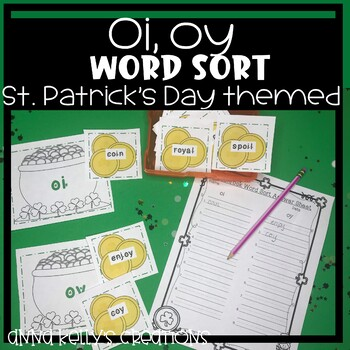 St. Patrick's Day word sort, (oi, oy)