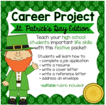 St. Patrick's Day/Leprechaun Career Project & Activities (