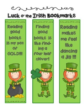 St. Patrick's Lucky Bookmarks