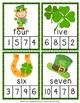 St Patricks Number Words Clip Cards