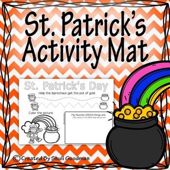 St. Patrick's activity mat