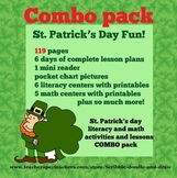 St. Patrick's day literacy and math activities and lessons