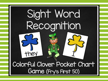 St. Patty's Colorful Clover Fry's First 50 Sight Word Game
