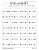 St. Patty's Day True or False Equations Sorting Worksheets
