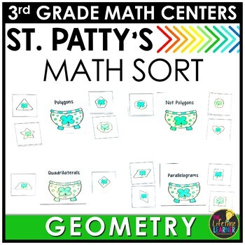 St. Patty's Race Geometry March Monthly Math Center