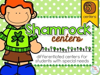 St. Patrick's Day ELA and Math Centers { 6 differentiated