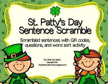 St. Patty's Sentence Scramble Scavenger Hunt