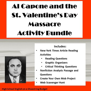 St. Valentine's Day Massacre Activities Bundle- PDF Version