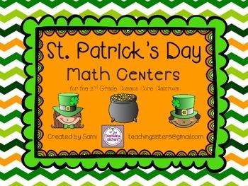 St.Patrick's Day Math Centers - Common Core Aligned - Seco