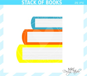 Stack of Books Clip Art - Commercial Use Clipart