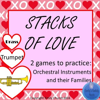 Stacks of Love- Orchestral Instruments Matching Games
