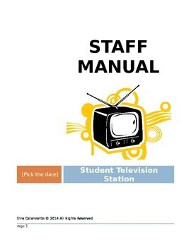Staff Manual for Student Television Station
