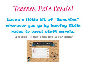 Staff Note Cards