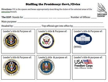 Staffing the Presidency Research Activity