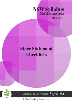 Stage Statement Checklists-NSW Stage 2 Maths
