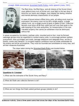 Stalin: Scorched Earth Policy
