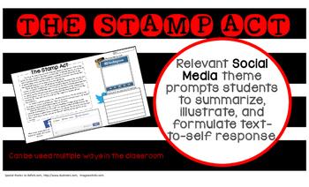 Stamp Act American Revolution summary main idea