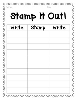 Stamp It Out!