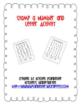 Stamp a Number or Letter