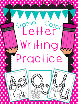 Stamp and Color Letter Writing Practice