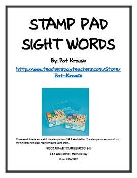 Stamp pad Sight Words